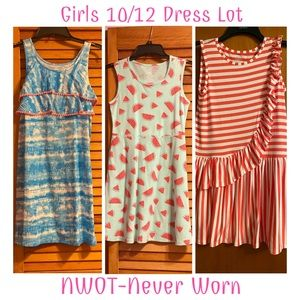 (3) Girl's Size 10/12 Faded Glory Dresses (NWOT)